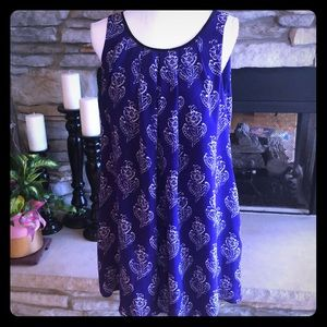 Anthropologie Maeve Purple Shift Dress